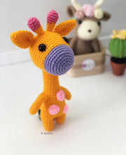 Load image into Gallery viewer, Crochet Giraffe Soft Toy