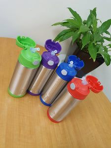 Kid friendly stainless steel drink bottle