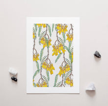 Load image into Gallery viewer, Branches of Kowhai - A4 Unframed Art Print