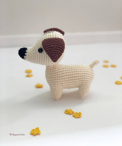 Crochet Jack Russell Terrier Soft Toy