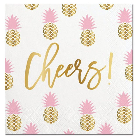 Beverage Napkin - Cheers Pineapples