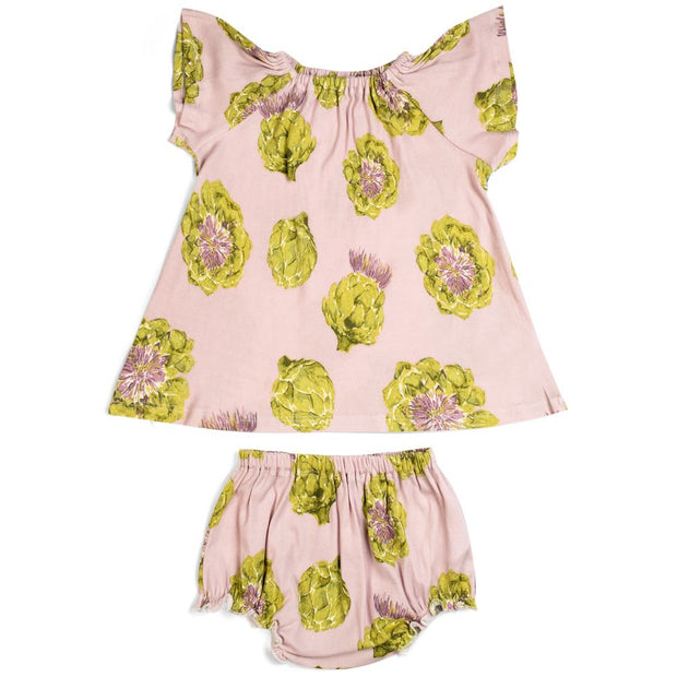 Milkbarn Artichoke Dress & Bloomer Set