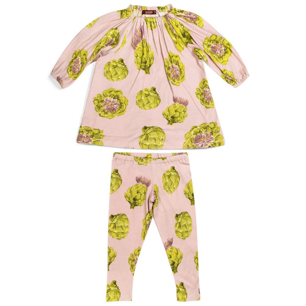 Milkbarn Artichoke Dress & Legging Set