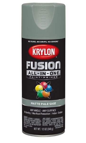 Krylon Fusion All-In-One 12oz. Matte Pale Sage Paint