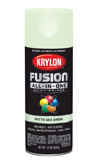 Krylon Fusion All-In-One 12oz. Matte Sea Green Paint