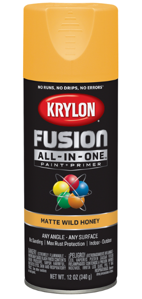 Krylon Fusion All-In-One Matte Wild Honey Paint + Primer Spray Paint 12 oz.