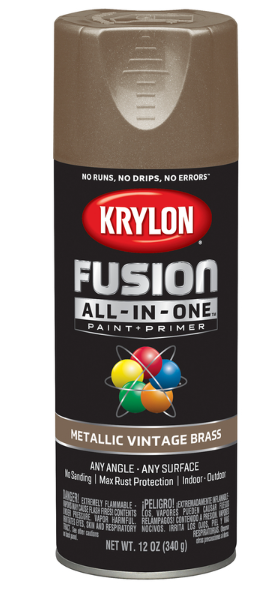 Krylon Fusion All-In-One Metallic Vintage Brass Paint