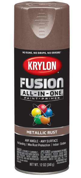 Krylon Fusion All-In-One Metallic Rust Paint + Primer Spray Paint 12 oz.