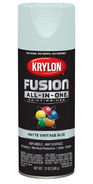 Krylon Fusion All-In-One 12oz. Matte Vintage Blue Paint