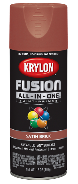 Krylon Fusion All-In-One Satin Brick Paint