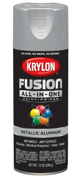 Krylon Fusion All-In-One Metallic Aluminum Paint + Primer Spray Paint 12 oz.