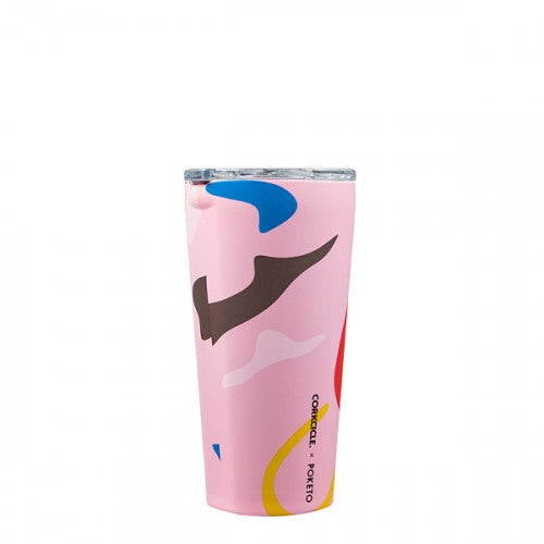 Corkcicle Poketo Tumbler 16oz - Pink Party