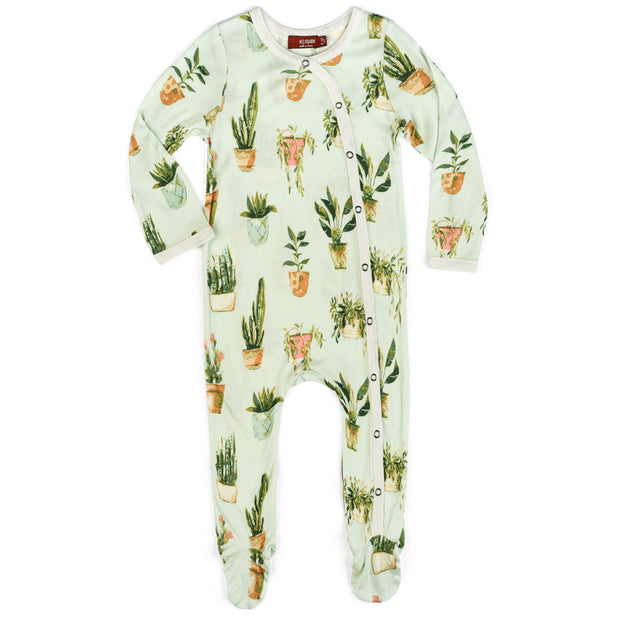 Milkbarn Potted Plants Footed Pajama