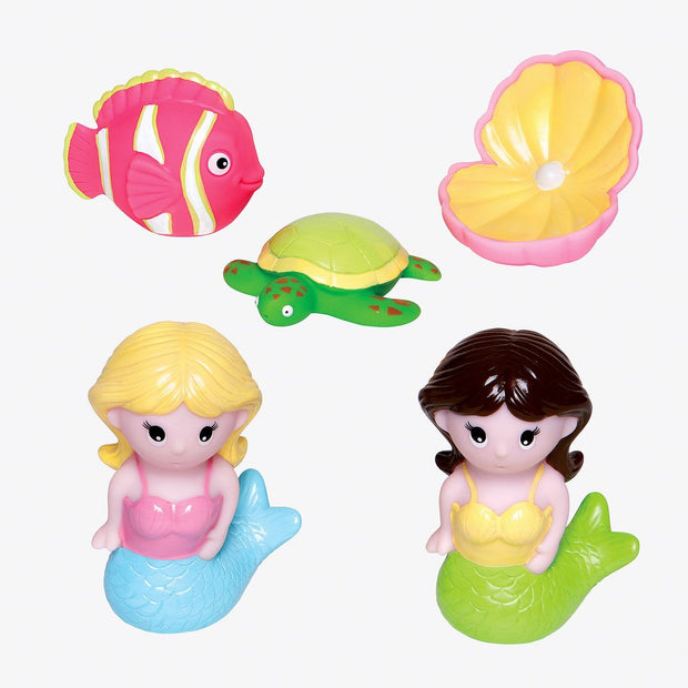 Mermaid Party Bath Toy Squirties Set