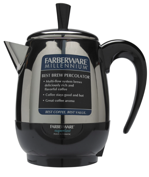 Farberware 4 cups Black/Silver Percolator