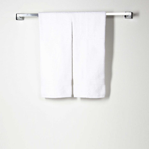 CB Station Lux Cotton Hand Towel - White