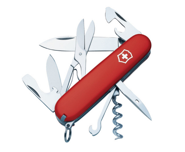 Swiss Army Knife Red Stainless Steel