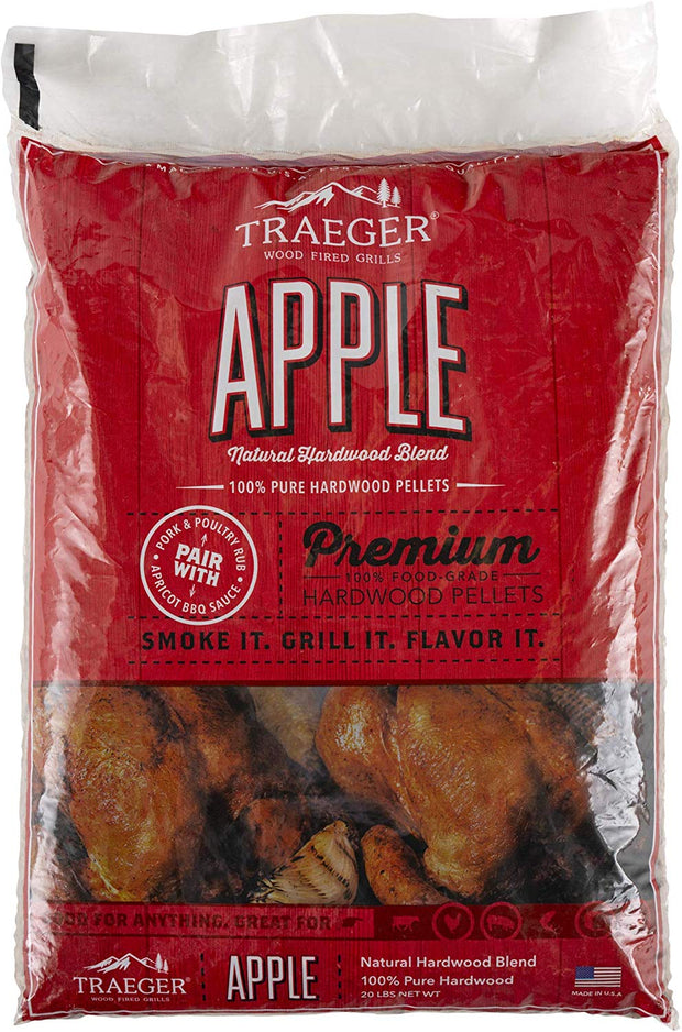 Traeger Apple BBQ Wood Pellets - 20lb