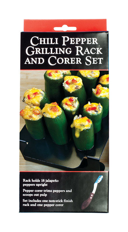 Charcoal Companion Pepper Rack and Corer set