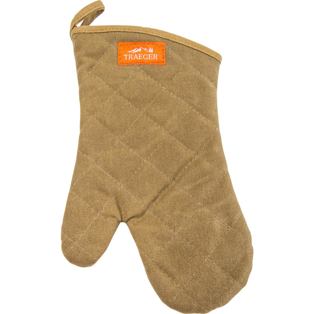 Traeger BBQ Mitt - Brown Canvas & Leather