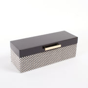 Black Chevron Lacquered Jewelry Box