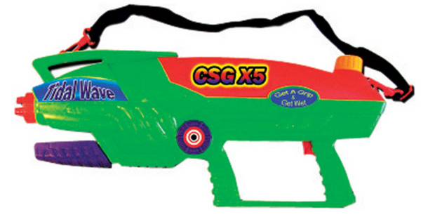Water Sports CSG X5 Plastic Assorted Water Gun