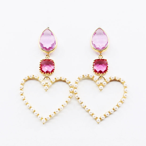 Blair Earrings - Pink