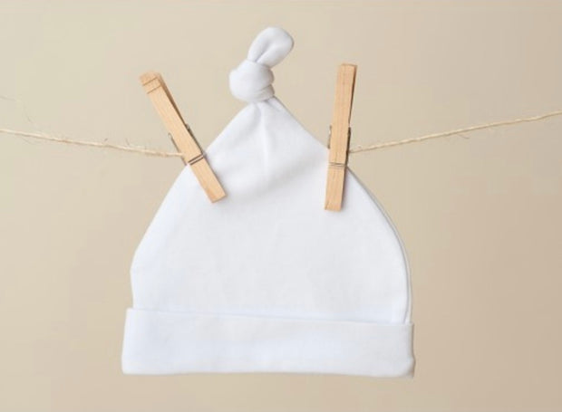 Baby Knot Hat - White