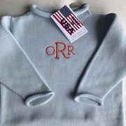 Jersey Rollneck Sweater - Light Blue