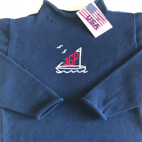 Jersey Rollneck Sweater - Navy