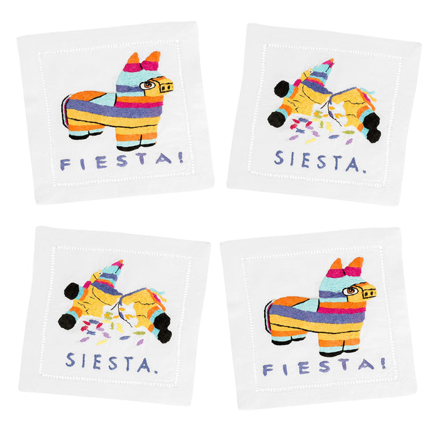Fiesta/Siesta Cocktail Napkin Set