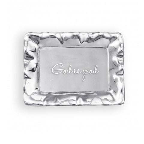 Beatriz Ball Vento Rectangular Engraved Tray God is Good