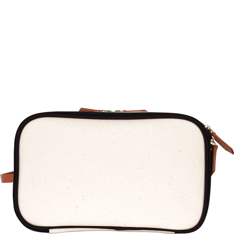 Daisy Coated Canvas Dopp Kit - Black