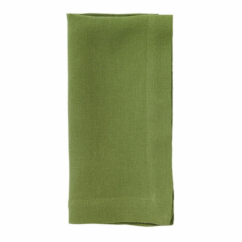 Riviera Stonewashed Cotton Dinner Napkins - Grass
