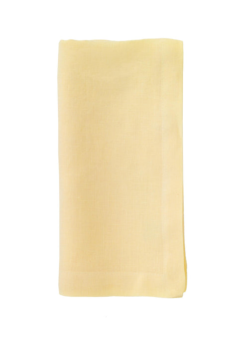 Riviera Stonewashed Cotton Dinner Napkins - Vanilla