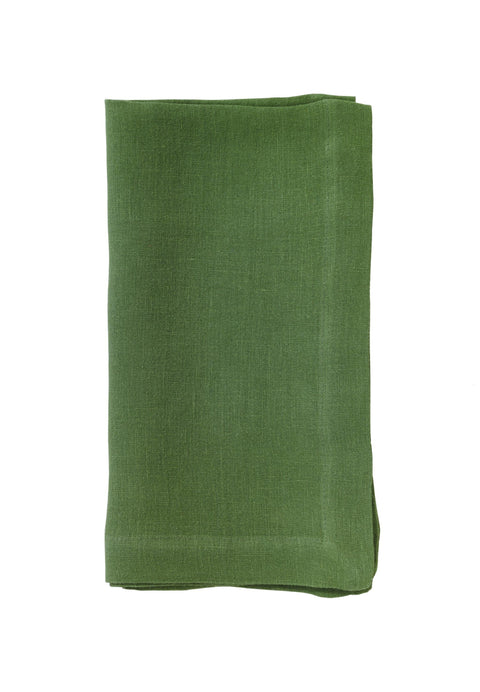 Riviera Stonewashed Cotton Dinner Napkins - Kiwi