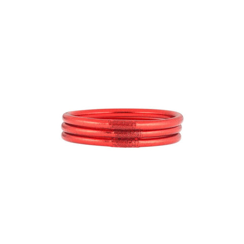 Budha Girl Crimson Red Bangles Set - Medium