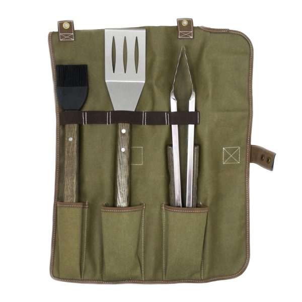 Charcoal Companion Oval Pro Chef 3 Piece Tool Roll