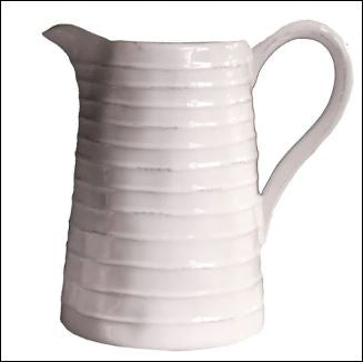 Ceramic Pitcher, White