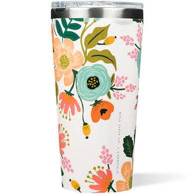 Corkcicle Rifle Paper Co. Tumbler 16oz - Gloss Cream