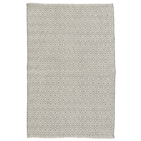 Dash & Albert Crystal Grey/Ivory Indoor/Outdoor Rug 2x3