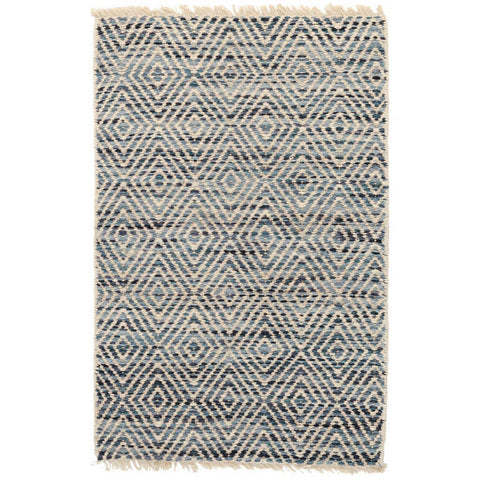 Dash & Albert Jewel Blue Jute Woven Rug 2x3