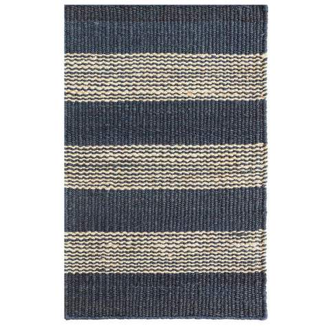 Dash & Albert Denim Ticking Woven Jute Rug 2x3