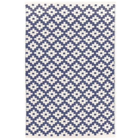 Dash & Albert Samode Denim/Ivory Indoor/Outdoor Rug 2x3
