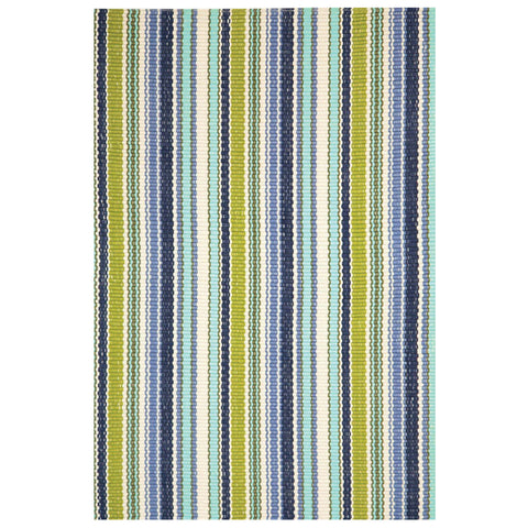 Dash & Albert Pond Stripe Indoor/Outdoor Rug 5x8