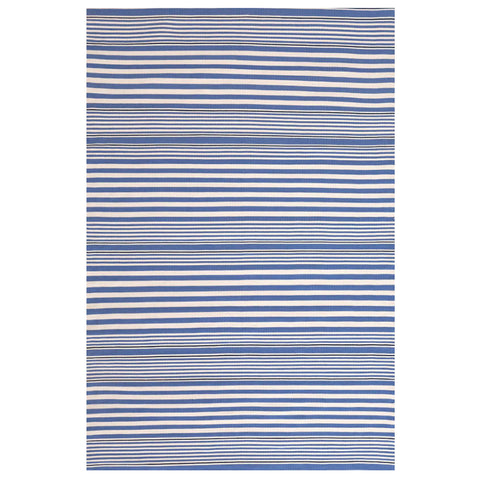 Dash & Albert Rugby Stripe Denim Indoor/Outdoor Rug 2x3