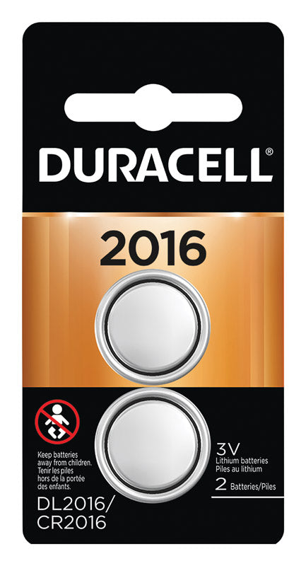 Duracell Lithium DL2016/CR2016 Battery 2 pk