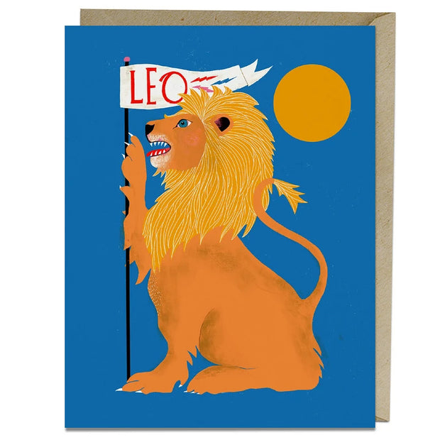 Leo Birthday Card