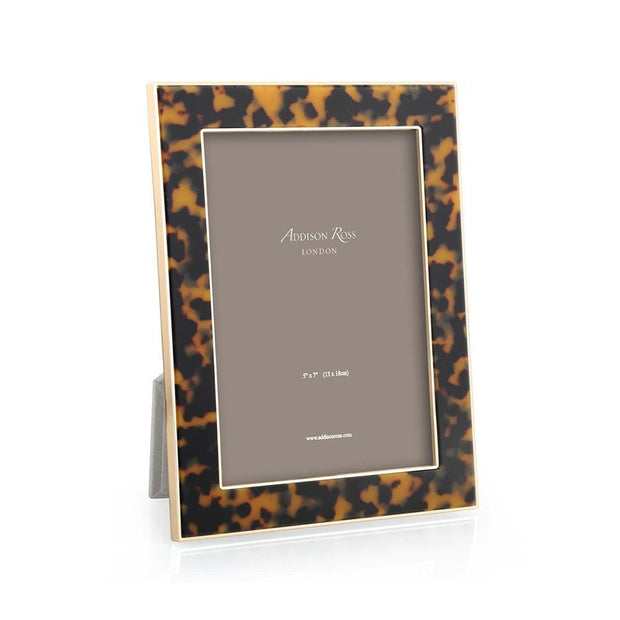 Tortoise Shell & Gold (5x7) Picture Frame