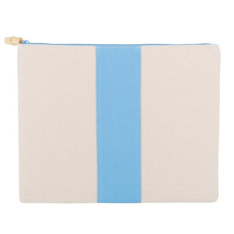 Light Blue Canvas Finley Pouch